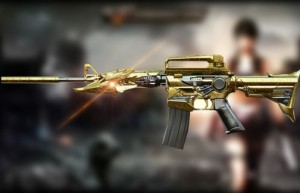 CrossFire's M4A1 Iron Beast Noble Gold